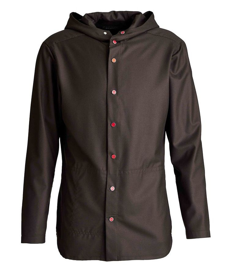 Hooded Wool-Fleece Shirt Jacket image 0