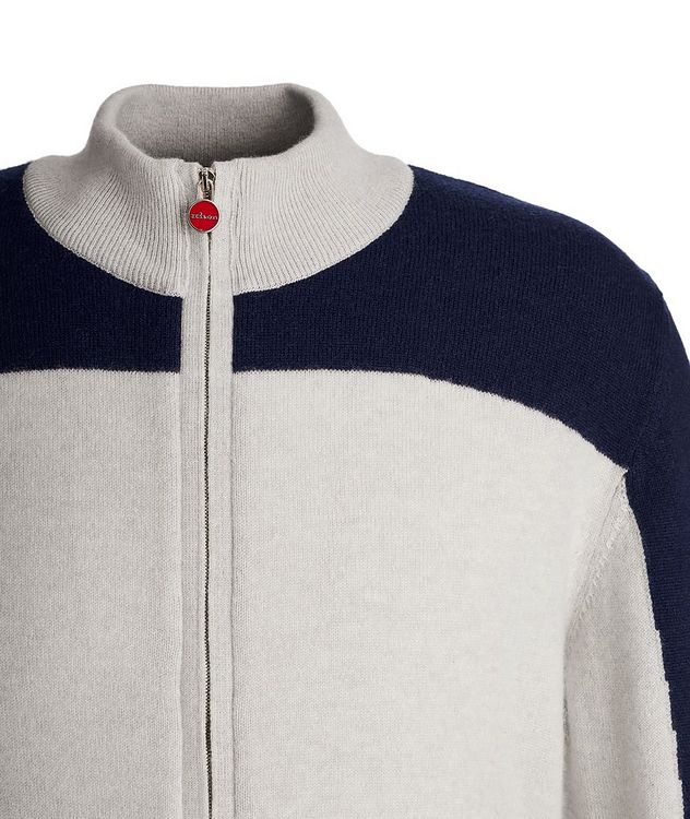 Zip-Up Cashmere Cardigan picture 3