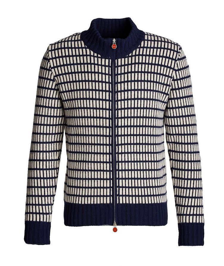 Zip-Up Cashmere Cardigan image 0