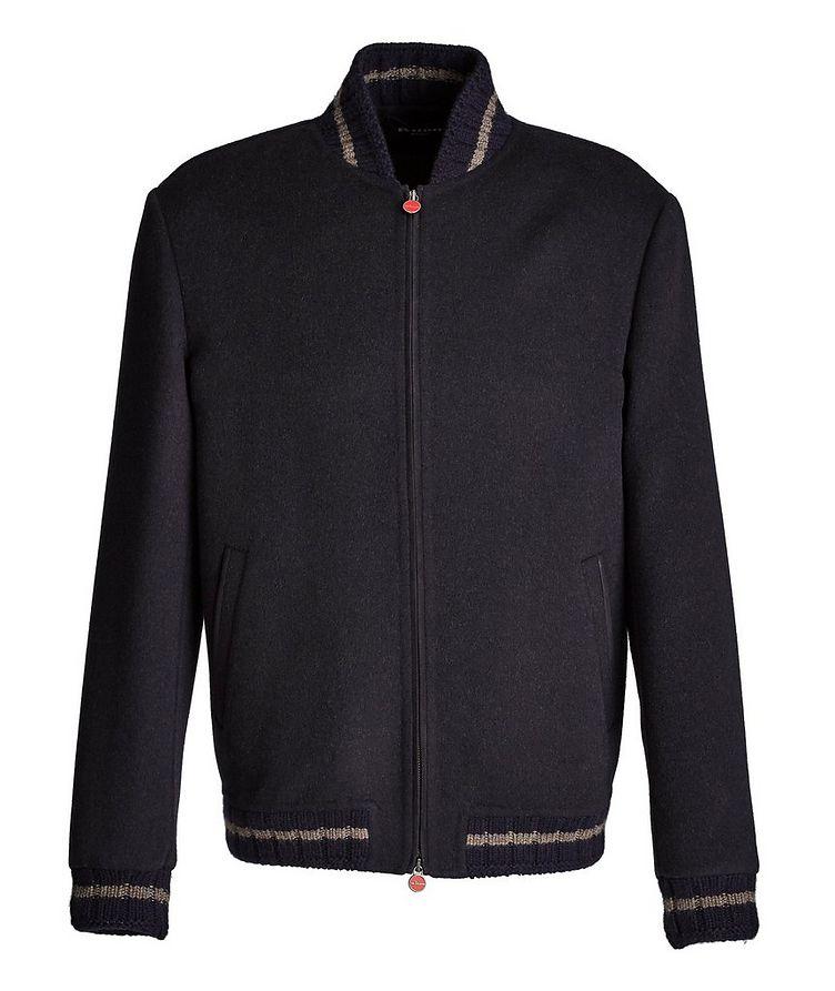 Fleece Wool-Cashmere Bomber Jacket image 0