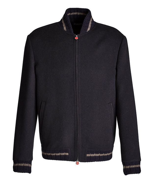 Fleece Wool-Cashmere Bomber Jacket picture 1