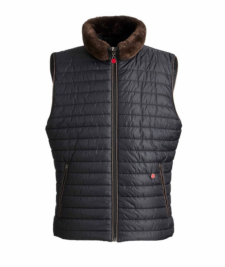 Reversible Fur-Trimmed Vest image 0