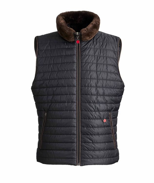 Reversible Fur-Trimmed Vest picture 1