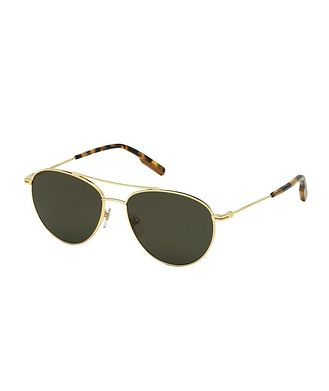 Ermenegildo Zegna Metal Aviator Sunglasses