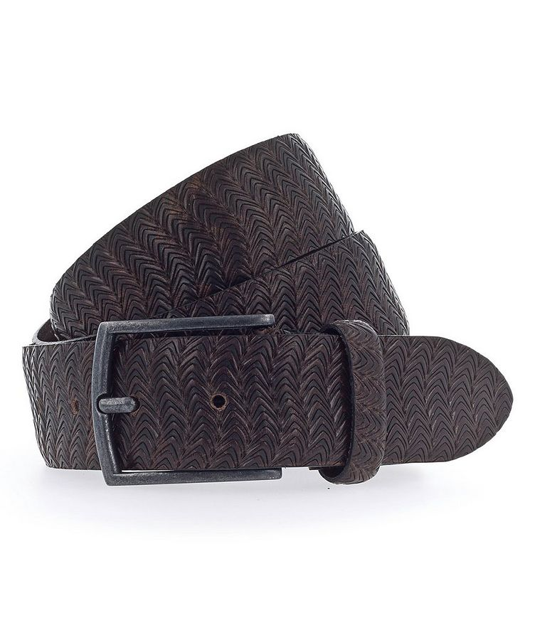 Textured Leather Belt image 0
