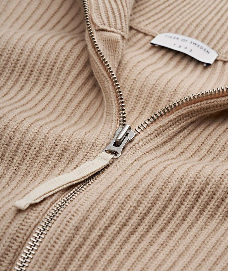 Nyman Zip-Up Wool Cardigan image 1