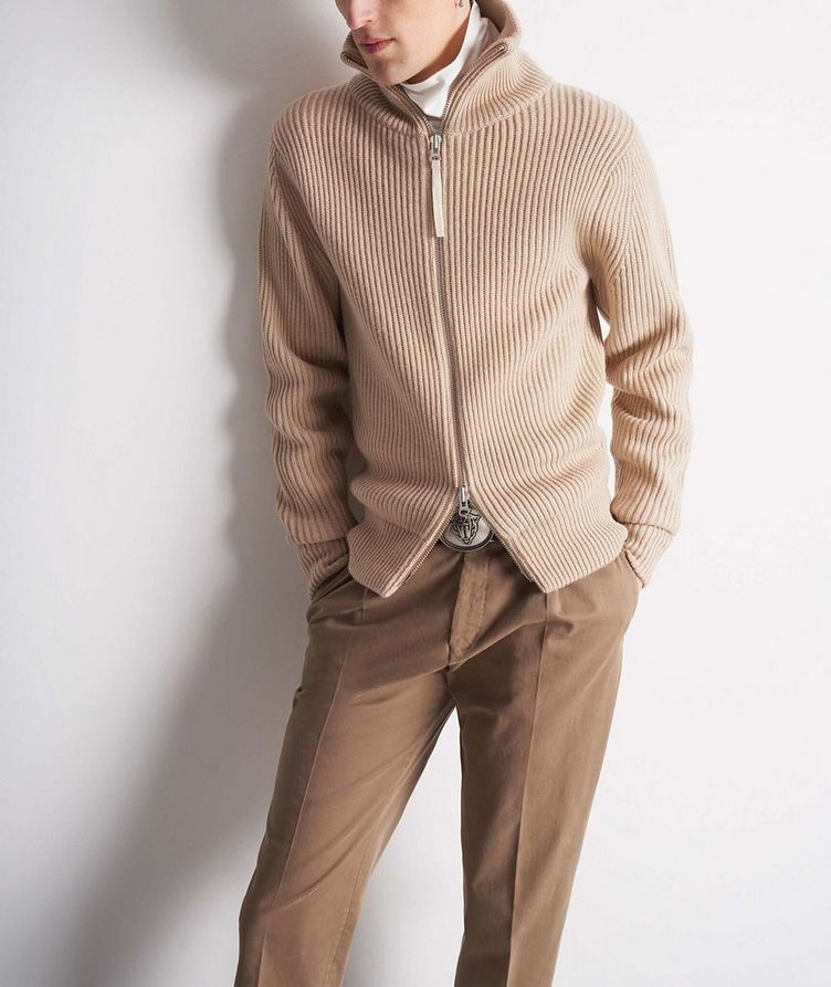 Nyman Zip-Up Wool Cardigan image 2