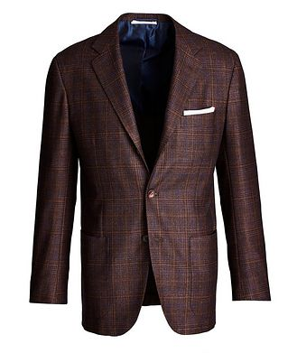 Kiton Contemporary Fit Wool, Cashmere, and Silk Sports Jacket