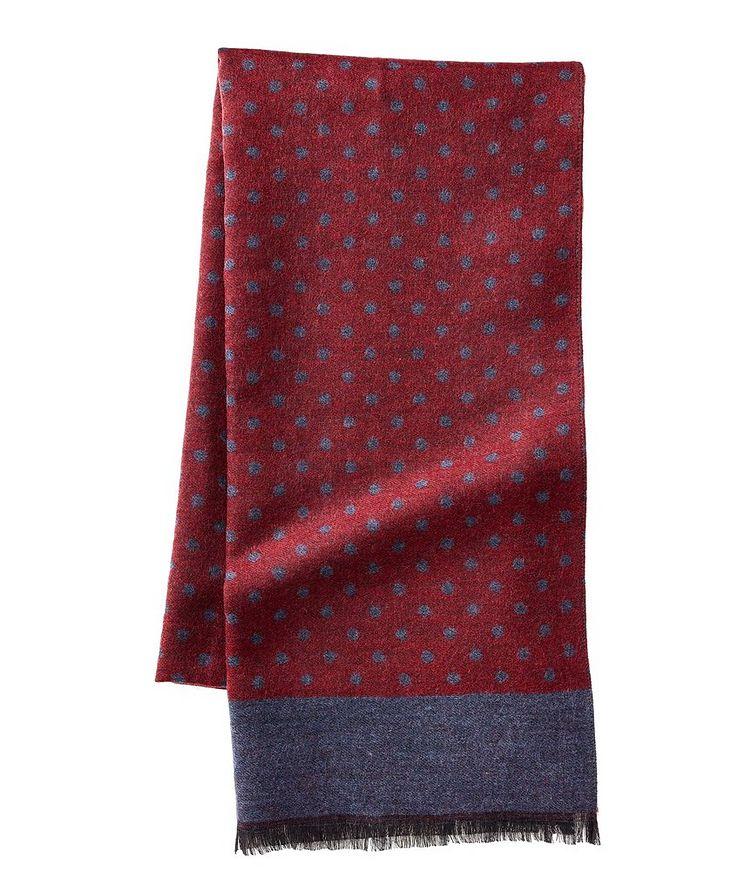 Écharpe imprimée en laine et soie image 0