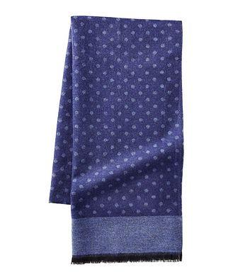 Kiton Printed Wool-Silk Scarf