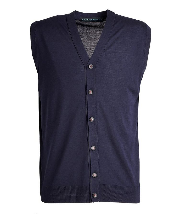 Button-Up Wool Vest image 0