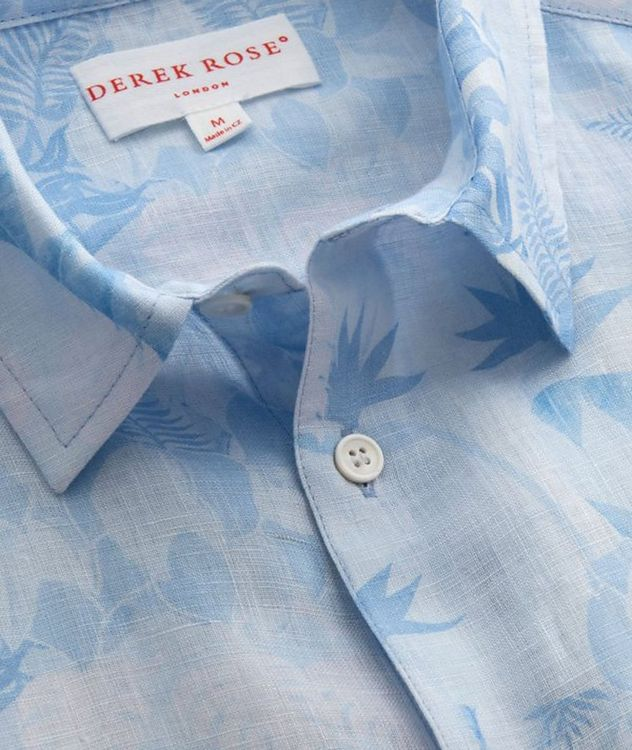 Resort Jungle-Print Linen Shirt picture 2