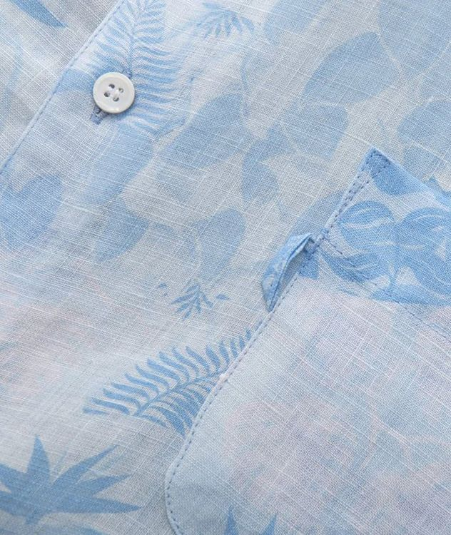 Resort Jungle-Print Linen Shirt picture 3