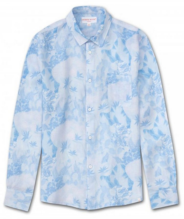 Resort Jungle-Print Linen Shirt image 0