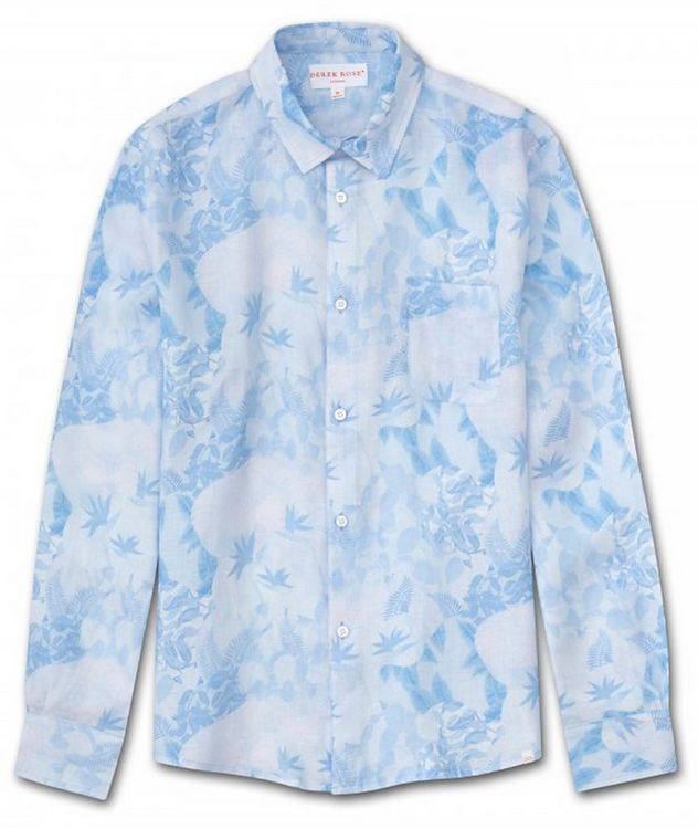 Resort Jungle-Print Linen Shirt picture 1