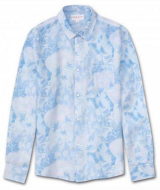Derek Rose Resort Jungle-Print Linen Shirt