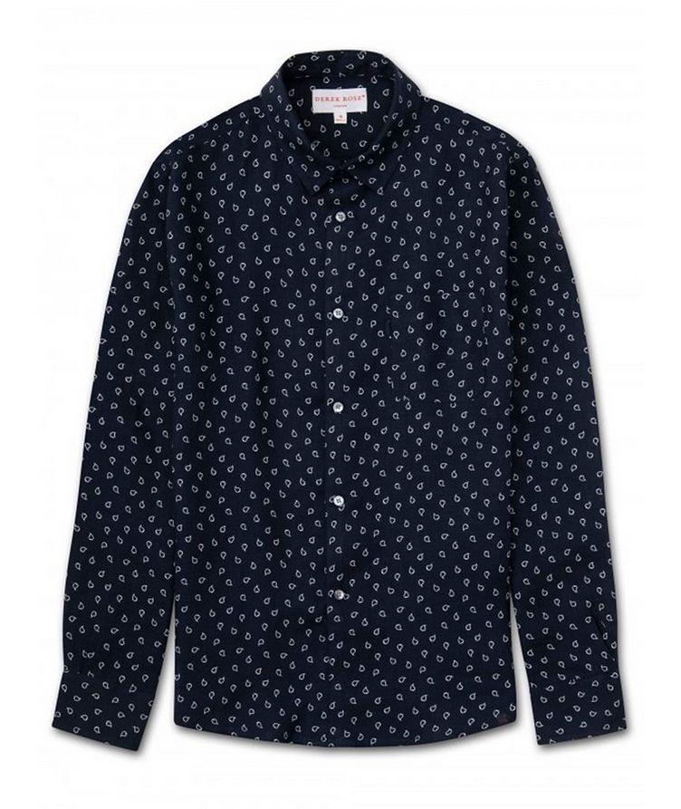 Resort Paisley Linen Shirt image 0
