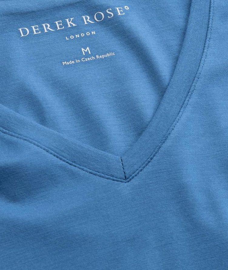 Resort V-Neck Cotton T-Shirt image 1