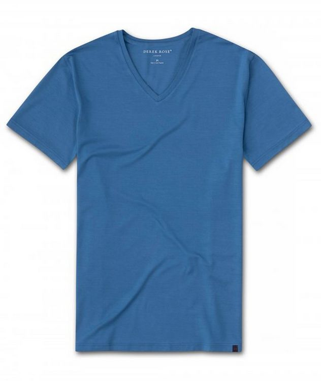 Resort V-Neck Cotton T-Shirt picture 1