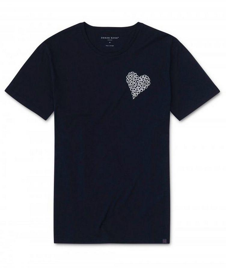 T-shirt en coton avec cœur, collection Resort image 0