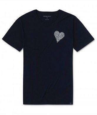 Derek Rose Resort Heart Graphic Cotton T-Shirt