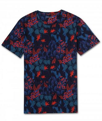 Derek Rose Resort Jungle-Print Cotton T-Shirt