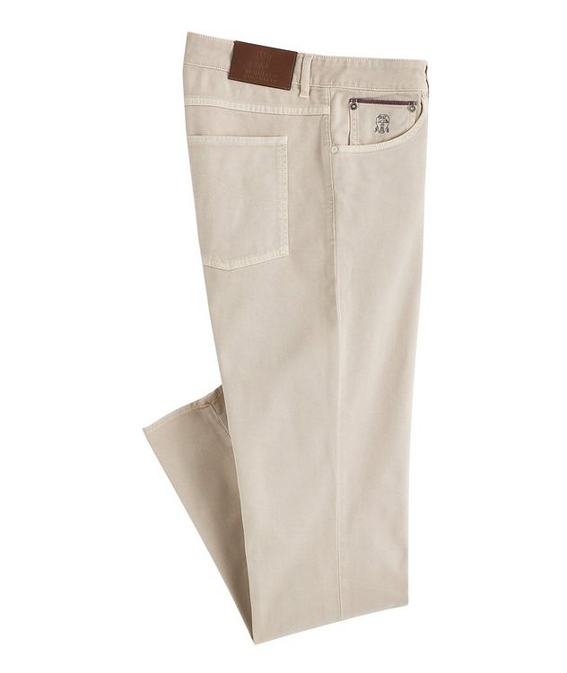 Slim-Fit Stretch-Cotton Jeans picture 1