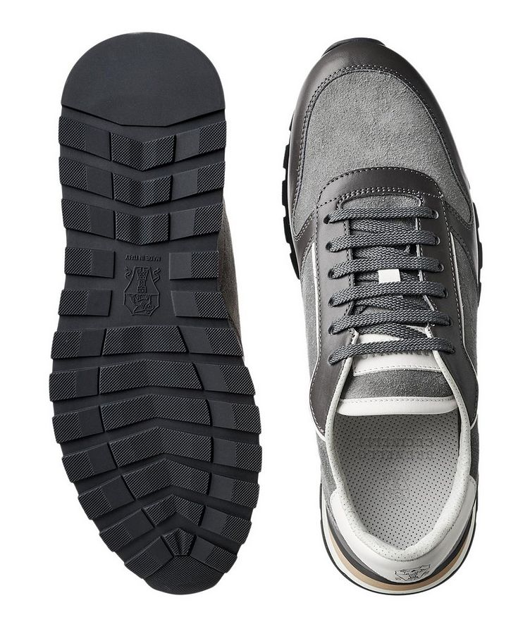 Suede and Leather Sneakers image 2