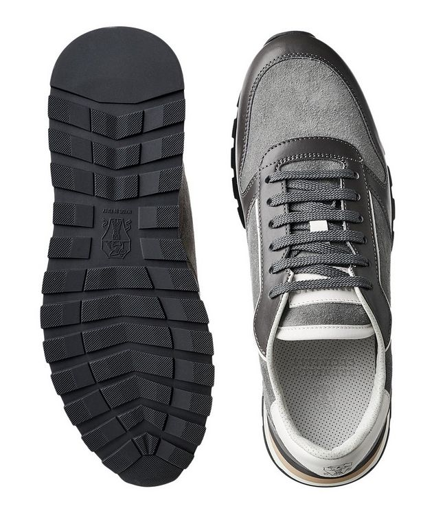 Suede and Leather Sneakers picture 3