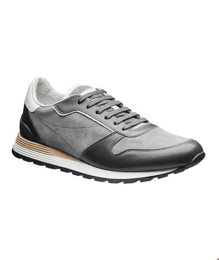 Suede and Leather Sneakers image 0