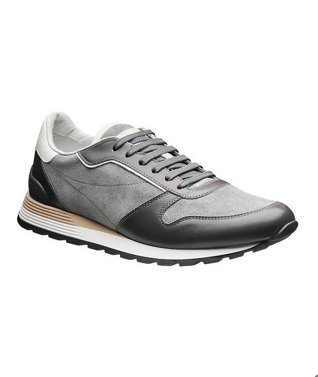 Suede and Leather Sneakers picture 1