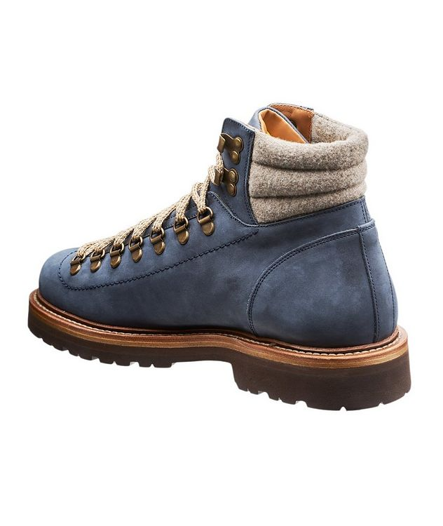 Suede and Knit Hiking Boots picture 2