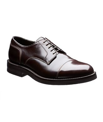 Brunello Cucinelli Cap-Toe Leather Derbies