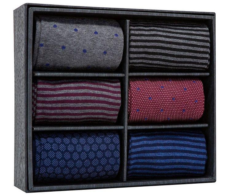Ensemble de six paires de chaussettes en mélange de coton image 0