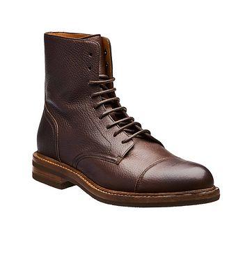 Brunello Cucinelli Leather Cap-Toe Boot