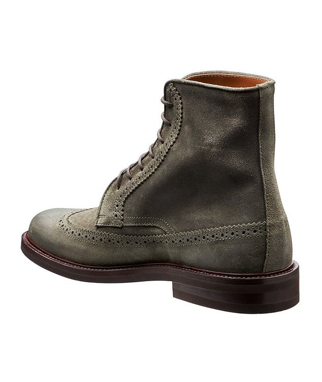 Suede Brogue Boots picture 2
