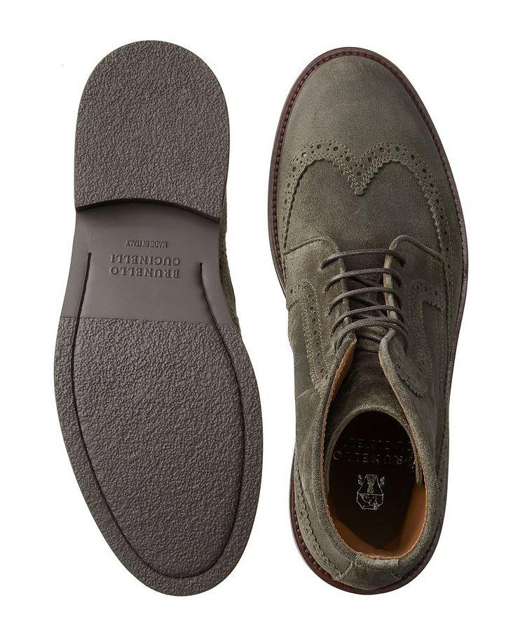 Suede Brogue Boots image 2
