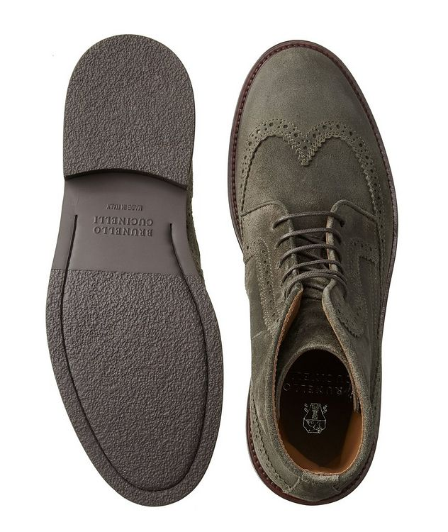 Suede Brogue Boots picture 3