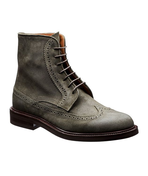 Suede Brogue Boots picture 1