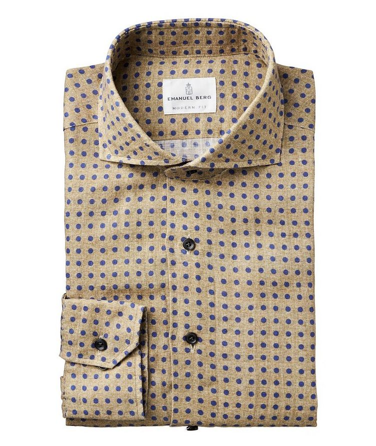 Slim Fit Dotted Linen Shirt image 0