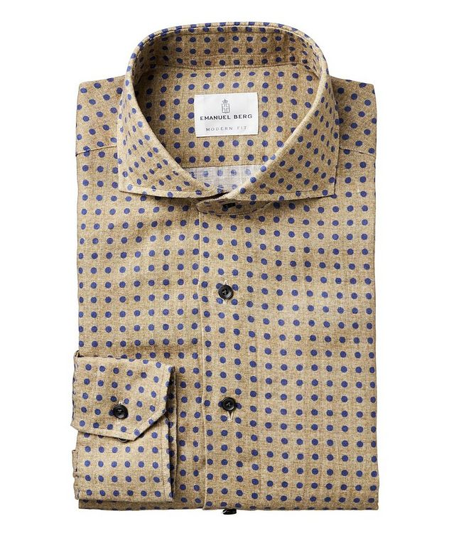 Slim Fit Dotted Linen Shirt picture 1