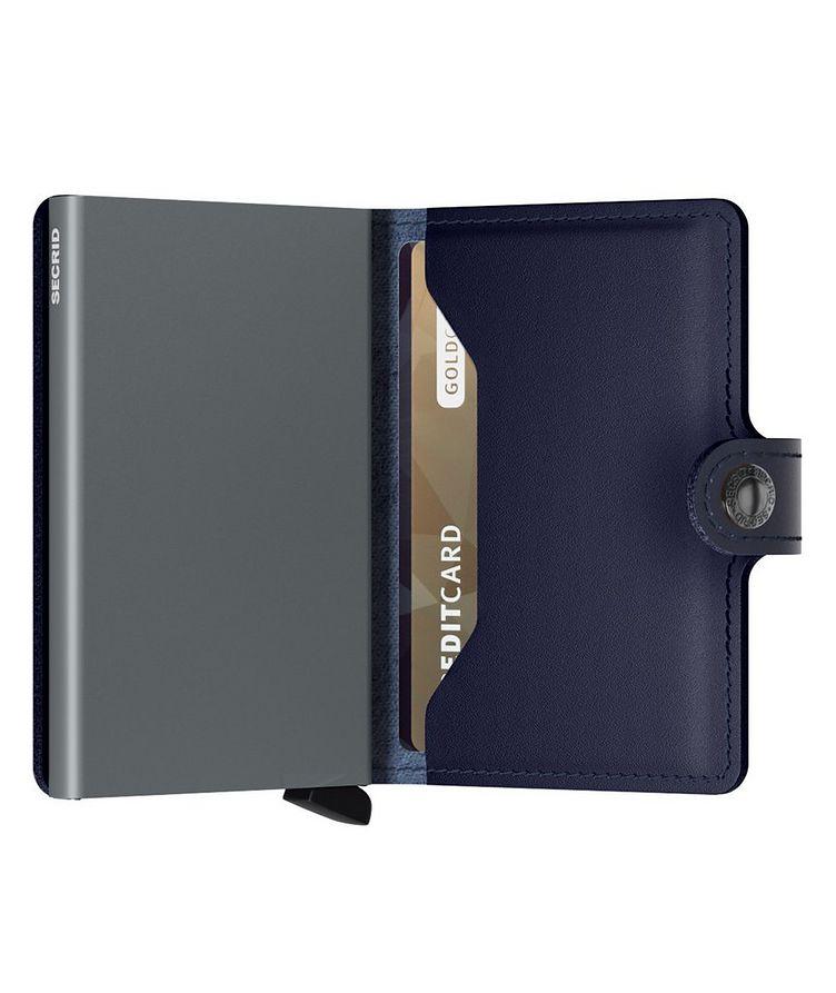 Petit portefeuille en cuir métallisé image 3