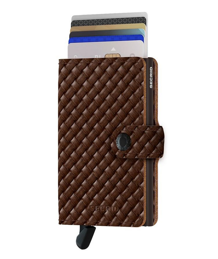 Basket-Woven Leather Miniwallet image 1
