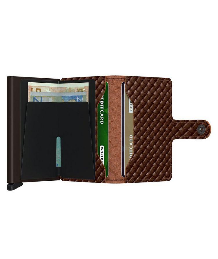 Petit portefeuille en cuir tressé image 4