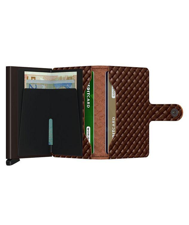 Basket-Woven Leather Miniwallet picture 5