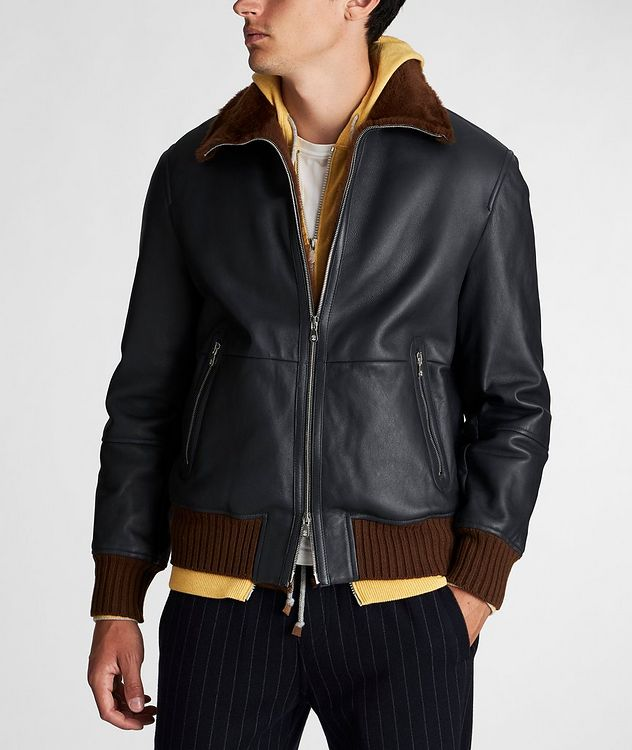 Leather Bomber Jacket picture 2