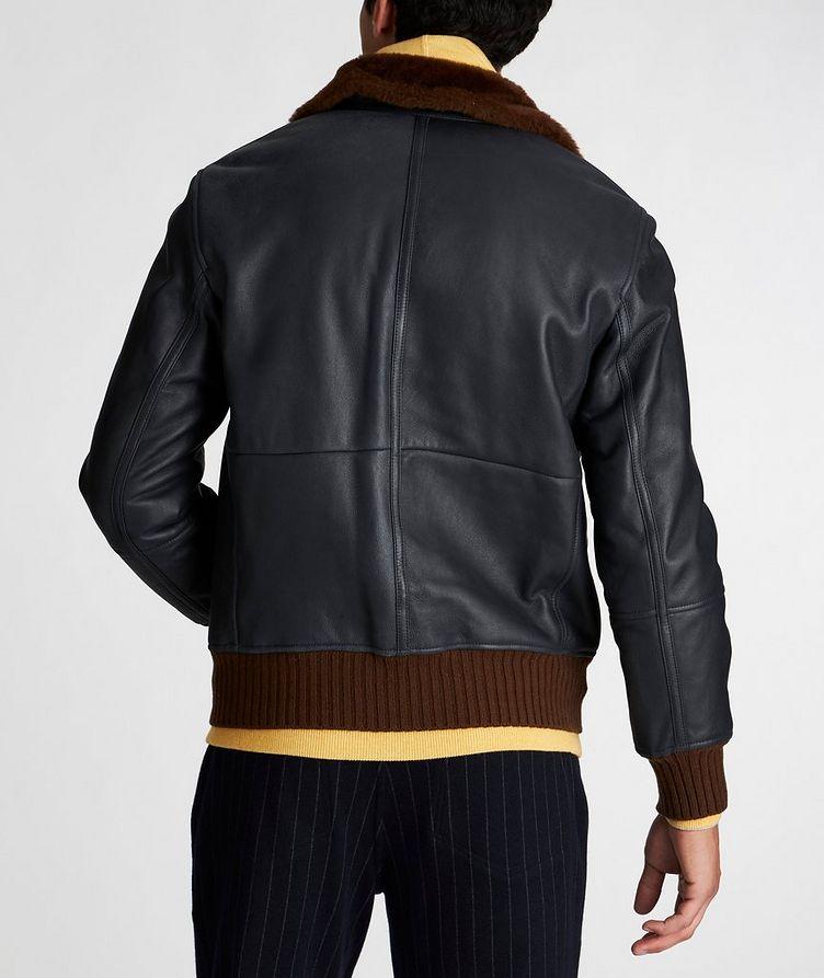 Leather Bomber Jacket image 2