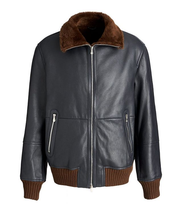 Leather Bomber Jacket picture 1
