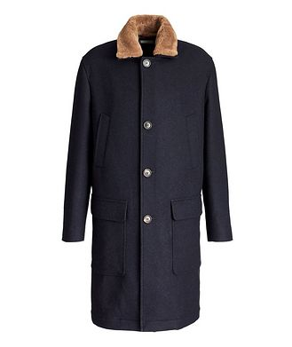 Brunello Cucinelli Shearling-Trimmed Overcoat