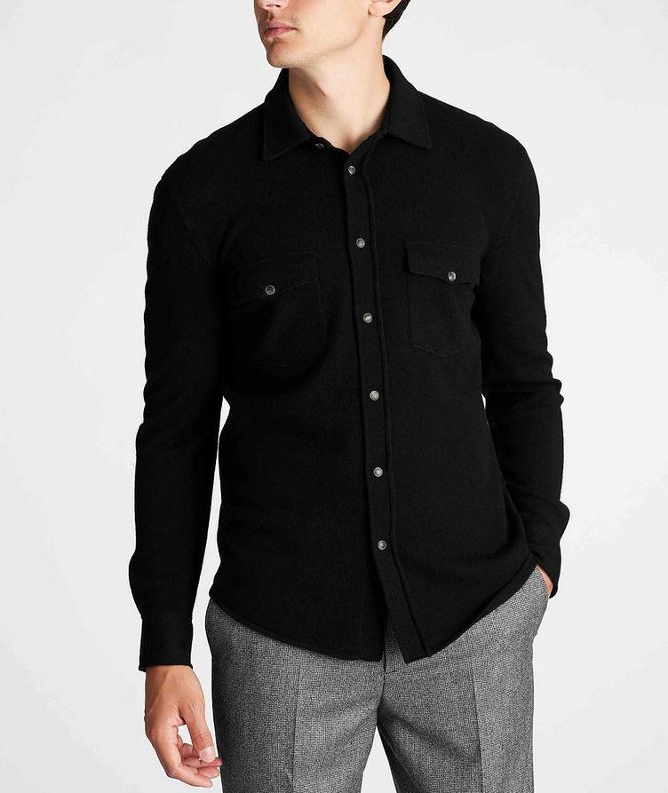 Wool, Cashmere, and Silk Shirt Jacket image 1